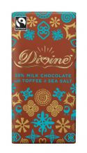 Divine Fairtrade Milk Chocolate With Toffee & Seasalt 100g